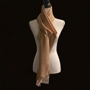 Belle France Cashmere/Wool Tan Scarf-NWT